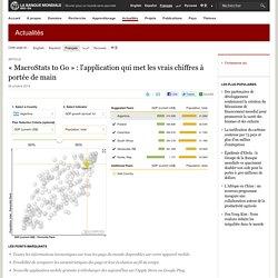 « MacroStats to Go » : l'application qui met les vrais chiffres à portée de main