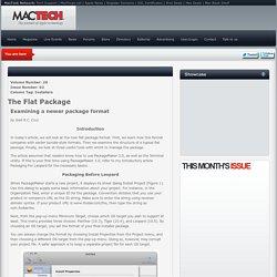 PackageMaker 3.0 & The New Flat Pkg Format