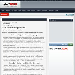 C and Objective C Compared