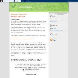 Mac OS X as an NFS Client