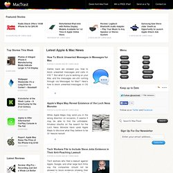 MacTrast - iPad, iPhone, Macbook & Apple News
