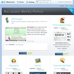 MacUpdate Promo - Huge Discounts and Daily Deals on Mac Software