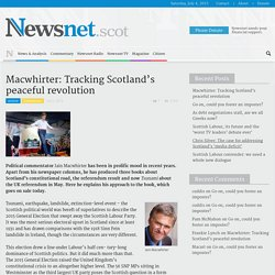Macwhirter: Tracking Scotland's peaceful revolution - Newsnet.scot