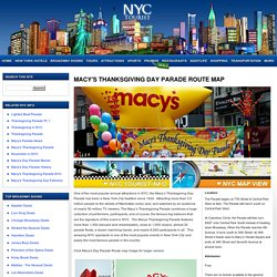 Macy's Thanksgiving Day Parade Route Map