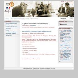 Usage en classe de Macyberentreprise - Économie Gestion - Académie de Toulouse