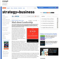 Mad about Leadership