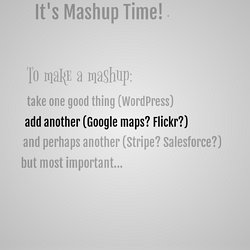 Mad Mashups with WordPress