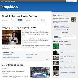 Mad Science Party Drinks