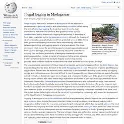 Illegal logging in Madagascar