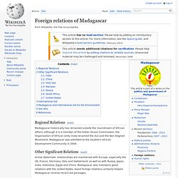 Foreign relations of Madagascar