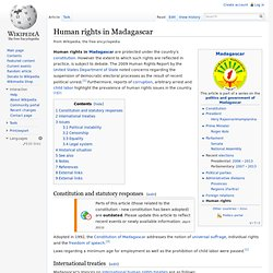 Human rights in Madagascar