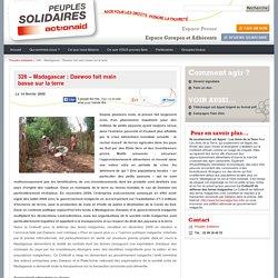 326 – Madagascar : Daewoo fait main basse sur la terre