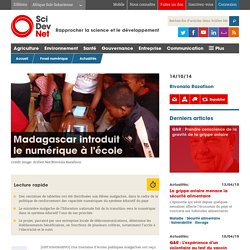 Madagascar introduit le numérique à l'école - SciDev.Net Afrique Sub-Saharienne