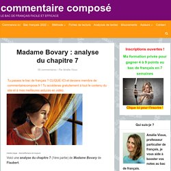 Madame Bovary : analyse du chapitre 7