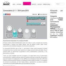 Convocatoria S 1.1 / 2014 para 2015