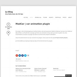 MadCar | car animation plugin « Miaz3