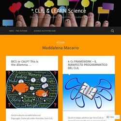 Maddalena Macario – Page 2 – CLIL & LEARN Science