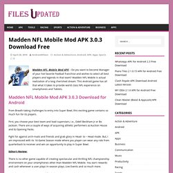 Madden NFL Mobile Mod APK 3.0.3 Download Free