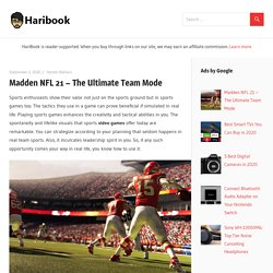 Madden NFL 21 - The Ultimate Team Mode - Haribook