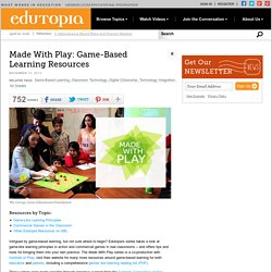 Made With Play: Game-Based Learning Resources