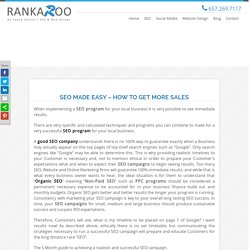 SEO Made Easy - How To Get More Sales - Rankaroo
