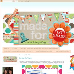 Made for 1st Grade: Staying On Track