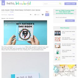 KID-MADE FREE PRINTABLE FATHER'S DAY BOOK