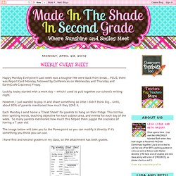 Made In The Shade In 2nd Grade