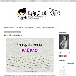 made by kate: Past Simple Memo