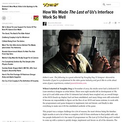How We Made The Last of Us' Interface Work So Well