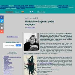 Madeleine Gagnon, poète engagée