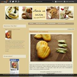 Madeleines au combava - Le blog de novice en cuisine