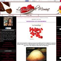 Madeleines aux Cranberries