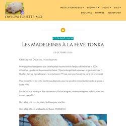 Les Madeleines à la fève tonka – Owi Owi Fouette-Moi