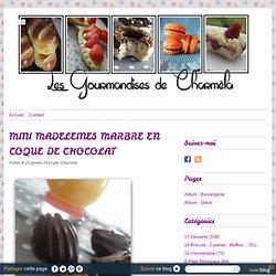 MINI MADELEINES MARBRE EN COQUE DE CHOCOLAT - Les Gourmandises de Charméla ©
