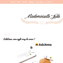 Mademoiselle Jude: AskAnna, mon appli coup de coeur !
