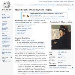 Mademoiselle Dihau au piano (Degas)