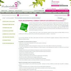 Mademoiselle Bio » Pour une entreprise, comment diminuer son empreinte écologique ?