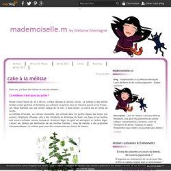 cake à la mélisse - mademoiselle.m by Mélanie Montagné - Cours de Bento et de cuisine japonaise - Auteur culinaire