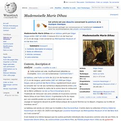 Mademoiselle Marie Dihau