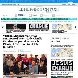 Mathieu Madénian commente l'attentat de Charlie Hebdo et apprend la mort de Charb et Cabu en direct à la télévision