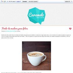 Fondo de madera para fotos ~ Caramelo - Crafts & Baking