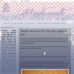 Tunique Canicule et son Tuto ultra simple et frais