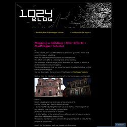 1024 Architecture Blog / MadMapper, Video Mapping, Quartz Composer plugins, whatever ...