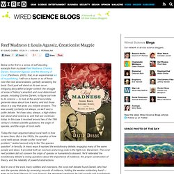 Reef Madness Begins: Louis Agassiz, Creationist Magpie