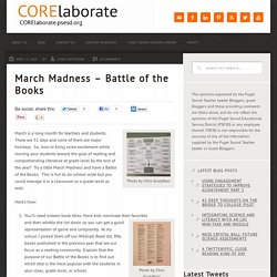 March Madness - Battle of the Books - CORElaborate