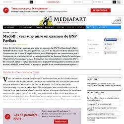 Madoff : vers une mise en examen de BNP Paribas