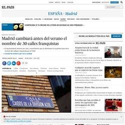 Madrid cambiará antes del verano el nombre de 30 calles franquistas
