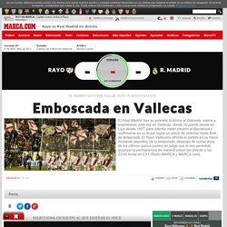 Rayo vs Real Madrid en directo y en vivo online