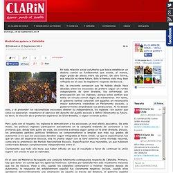 Madrid no quiere a Cataluña